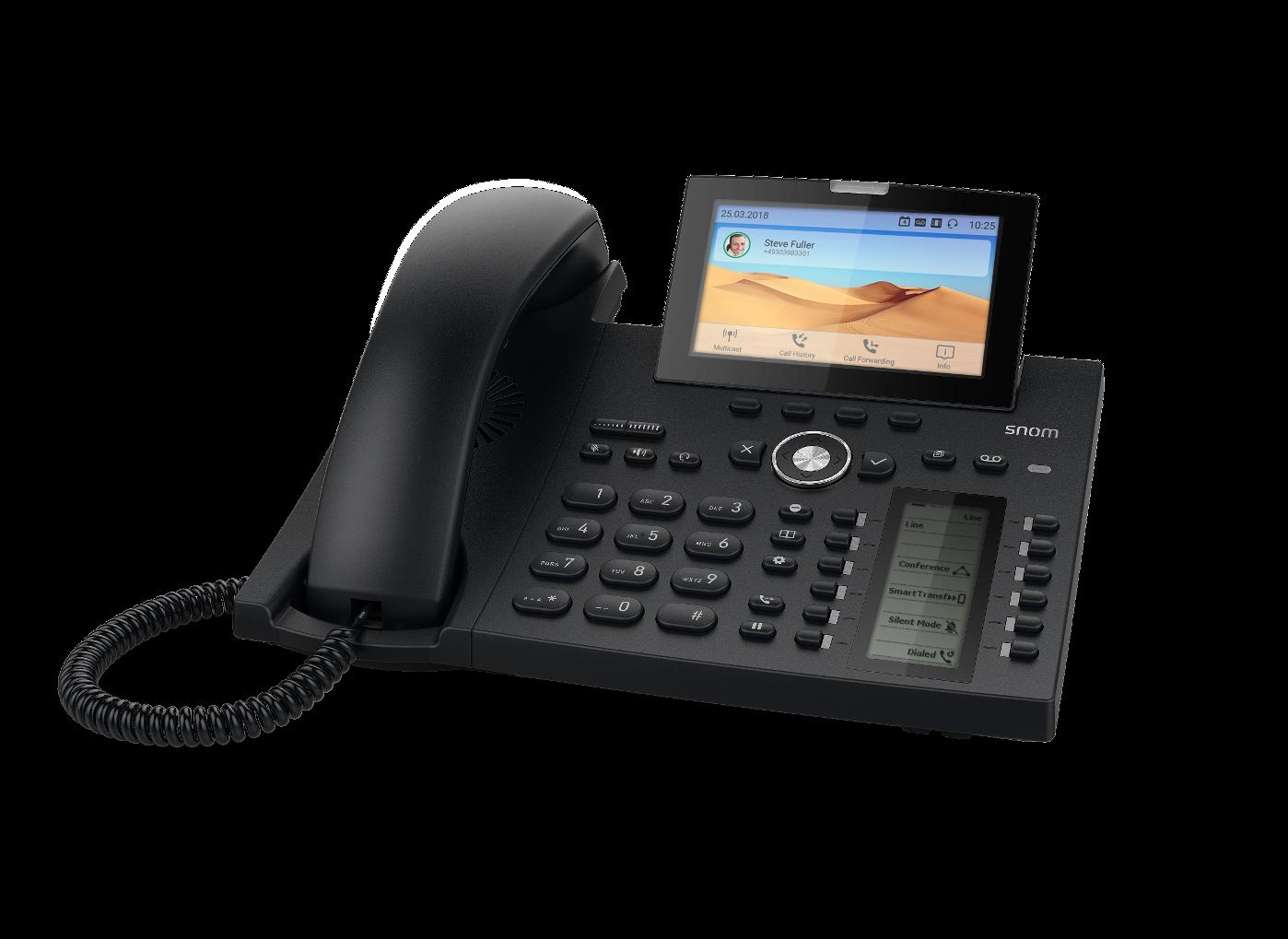 Snom präsentiert Flaggschiff  D385 SIP Telefon für gehobene Ansprüche!
