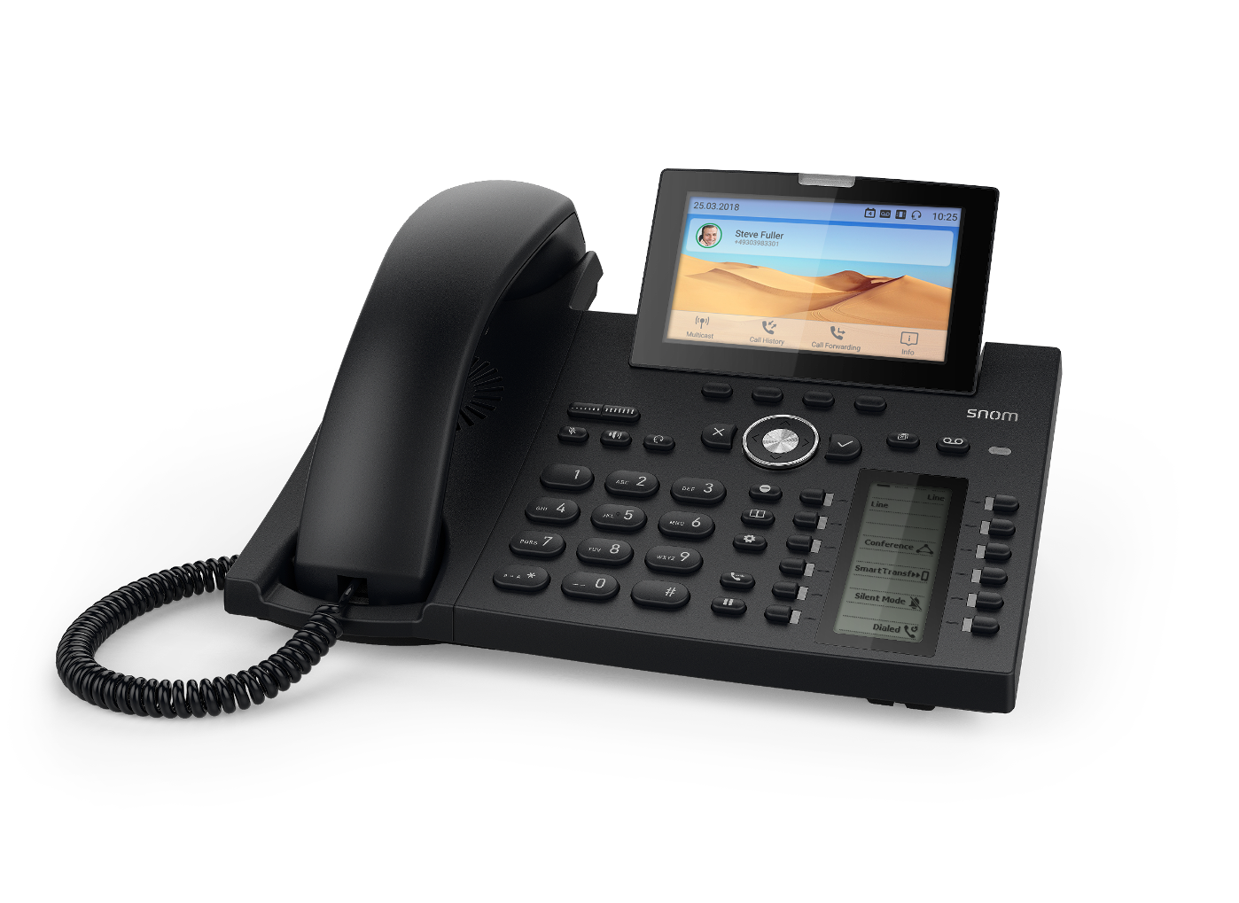 Snom launches a D3xx series flagship model: the D385 business desk phone