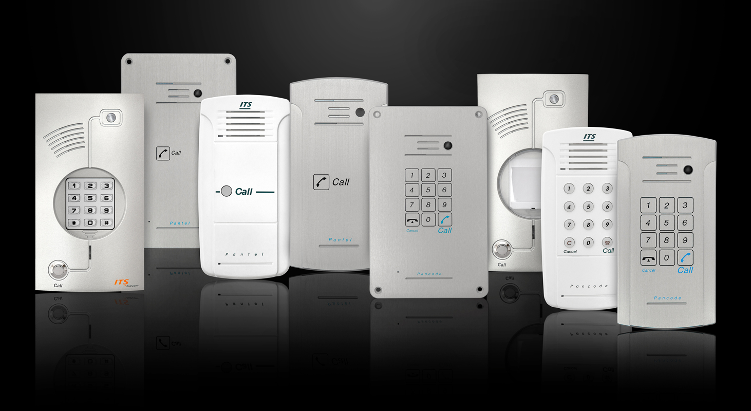 ITS Telecom door phone / intercom system in aluminium housing and sensor buttons