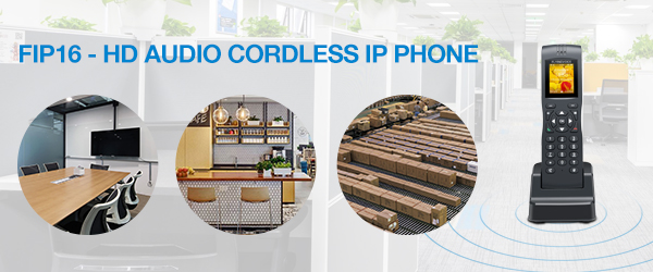 Flyingvoice Releases a New Portable Wireless IP Phone - FIP16 dual-band WiFi SIP phone