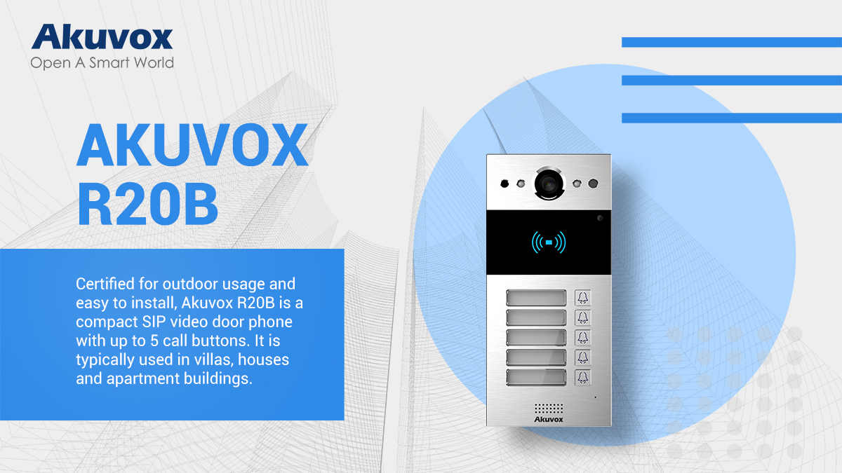 Akuvox New Product Launch: Multi-button Door Phone for Limited Space