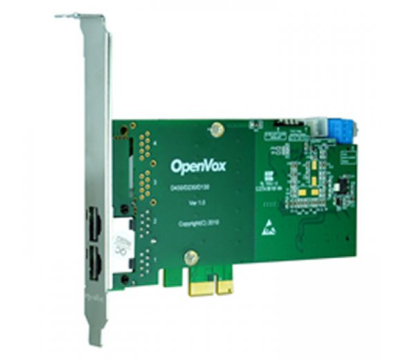 OpenVox D230E 2 Port T1/E1/J1 PRI PCI-E card (Advanced Version, Half-length with Low profile option)