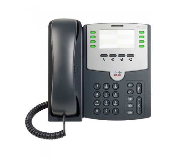 Cisco SPA501G 8-Line IP Phone with 2-Port Switch, PoE and Paper Label (without Display)