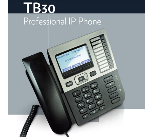 Thomson IP TB30 Professional SIP Telefon mit PoE inkl. Netzteil (Optional: Wireless DECT Headset Support)