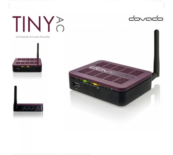 DOVADO TINY AC, Universal Access Router (Internet via WAN/USB/SpotBoost) for 4G/LTE USB Modem