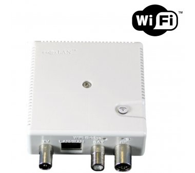 coaxLAN CL500WLAN, Powerline Modem plugable, 500MBit/s Powerline with 300MBit/s WLAN