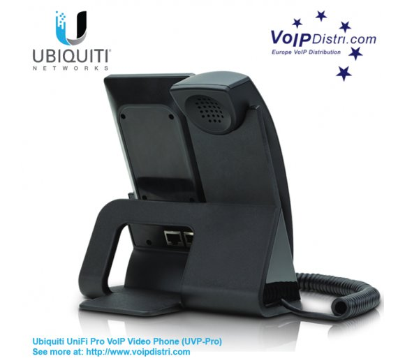 UBIQUITY UniFi Pro VoIP Video IP Telefon (UVP-Pro) mit 5 Farb-Touchscreen für Videotelefonie, PoE, Gigabit, Bluetooth, WLAN (Wireless N), Powered by Android