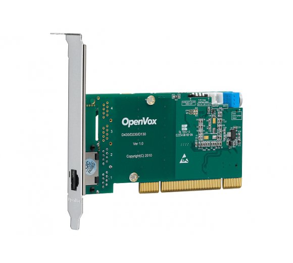 OpenVox D130P 1 Port T1/E1/J1 PRI PCI card (Advanced Version, Half-length with Low profile option)