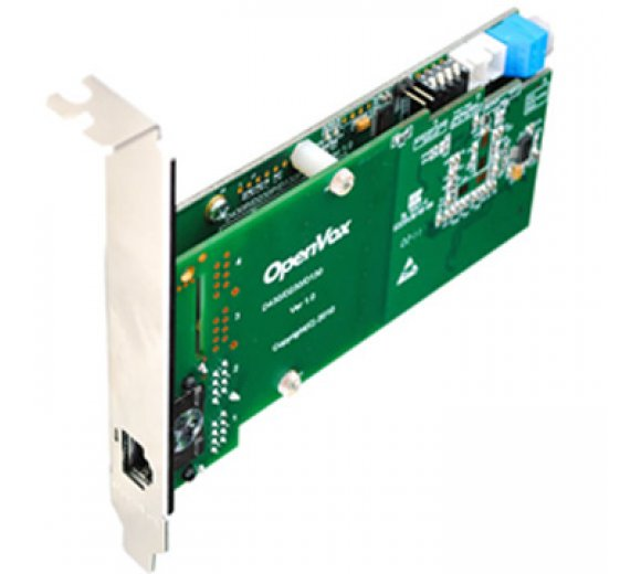 OpenVox DE130P 1 Port T1/E1/J1 PRI PCI card with EC2032 module (Advanced Version, Half-length with Low profile option)