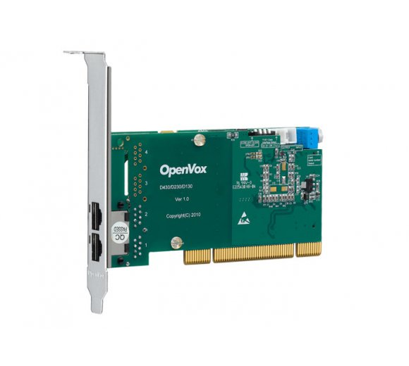 OpenVox D230P 2 Port T1/E1/J1 PRI PCI card (Advanced Version, Half-length with Low profile option)