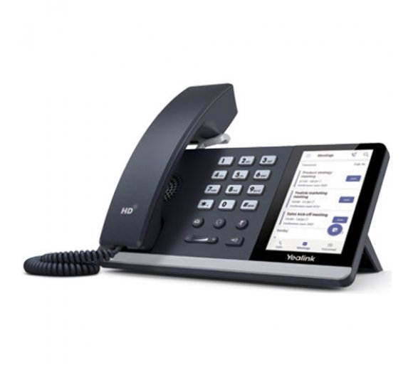 Yealink T55A IP Phone, Microsoft Teams Edition (Gigabit Ethernet, USB, Opus Codec, embedded WiFi and Bluetooth)
