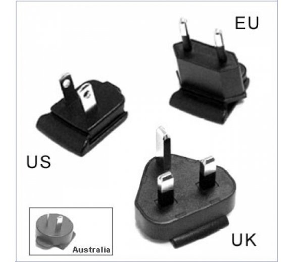 Linksys by Cisco AC-Clips International (UK, Europe, USA, NA, Australia, IEC320/C8), Cisco PA100 auswechselbarer AC-Adapter