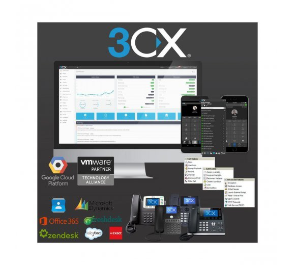 3CX Phone System - Professional Edition 128SC (3CXPSPROF128)