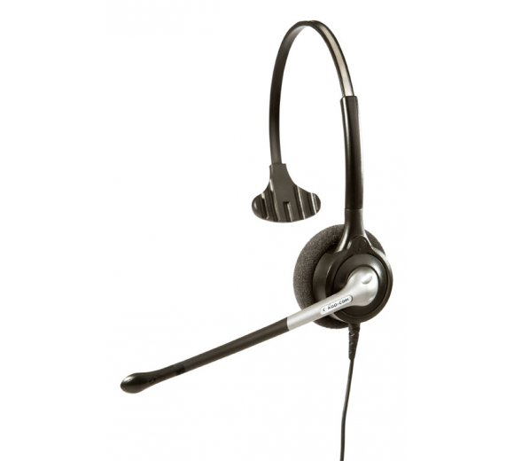 ADD-COM ADD-800 Performance Plus II Noise Cancelling Monaural Headset + Schaumstoffohrkissen