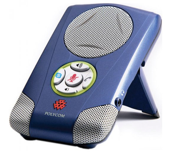 Polycom Communicator C100S, cobalt blau, USB Desktop Speakerphone, Skype zertifiziert