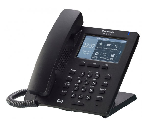 Panasonic KX-HDV330 SIP Desk Phone, black
