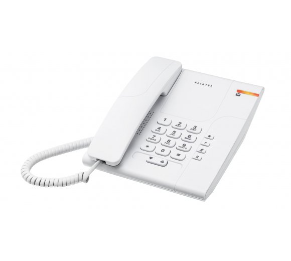 ALCATEL Temporis 180 without Display, color white, Analog phone for bed room