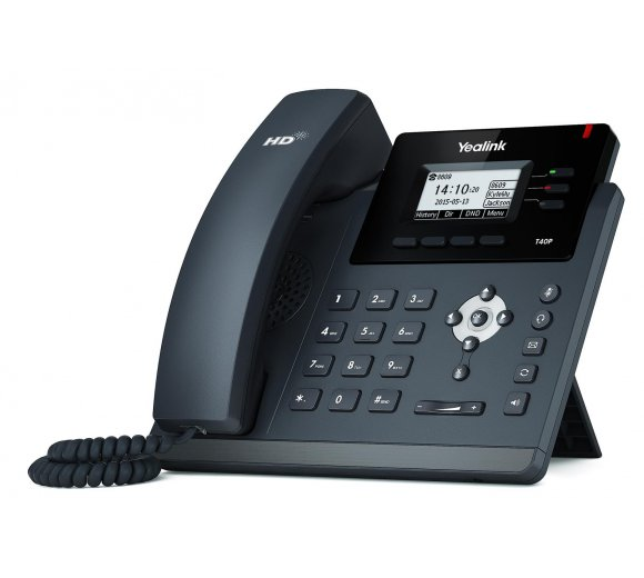 Yealink SIP-T40P Ultra-elegant IP Phone, PoE, 3 SIP accounts, Optima HD Voice, PoE, EHS Support