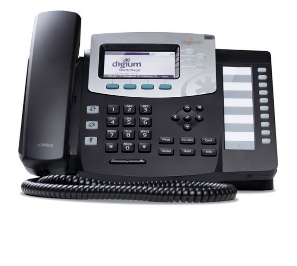 digium D50 IP Phone, 4-line, Designed for Asterisk & Switchvox