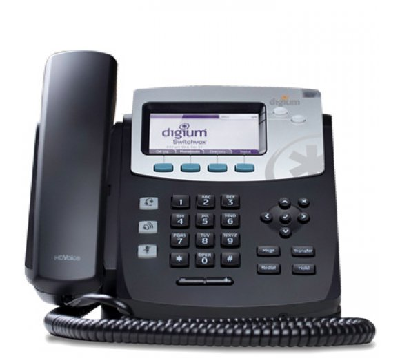 digium D40 IP Phone with icon key, 2-line, Designed for Asterisk & Switchvox