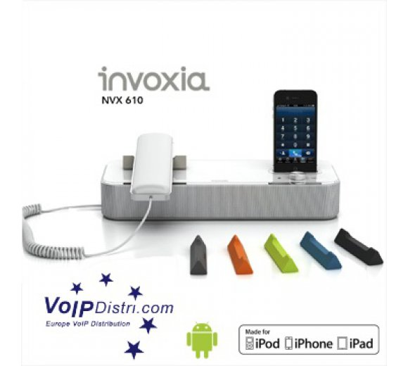 invoxia NVX 610 VoIP phone for iPod, iPhone or iPad and Android smartphones, Gigabit Ethernet, PoE, Bluetooth