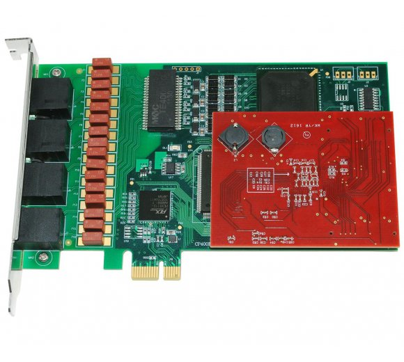 ALLO-4PRI-ECe E1/T1 4 Port PRI PCI Express + Echo Cancel, support SS7 signaling (1st Gen)