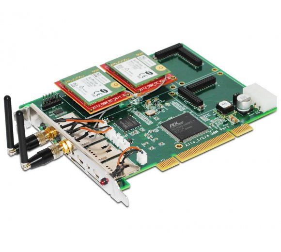 ALLO Quad-Band GSM PCI card, 2 GSM channel interface card...