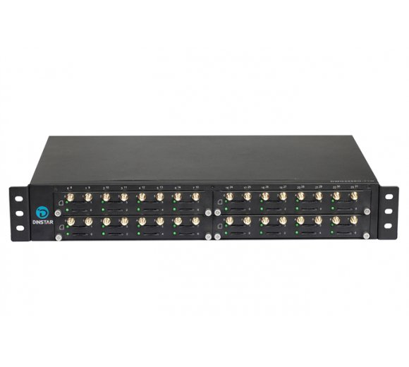 Dinstar UC2000-VG-32G 19 rackmount GSM VoIP Gateway with 32 GSM Channels
