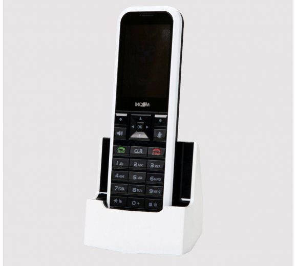 INCOM ICW-1000G SIP WLAN Telefon (ehemals UniData) / ICW-1000G WiFi N Wireless IP phone (Wireless-N), HD Voice