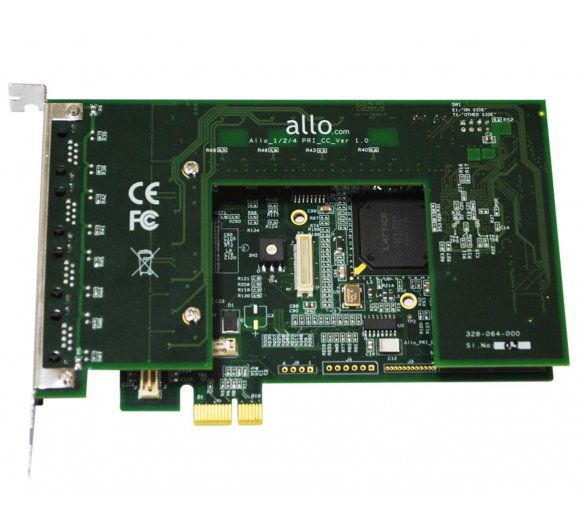 ALLO-4PRI-PCI-PCIe E1/T1 PRI 2nd gen Card - 4 Port PCI & PCI Express Interfaces on the same boardi, Works directly with DAHDI *no patch requred* (2nd Gen)