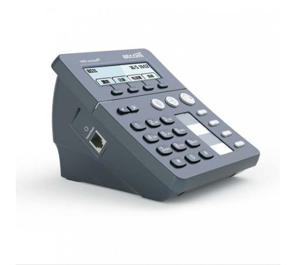 ATCOM AT800DP Call Center IP-Phone with PoE Port + ADD-COM ADD-880 Zwei-Ohr-Headset