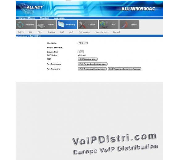 Allnet ALL-WR0500AC VDSL2 ADSL2+ WLAN VoIP Router Annex B/J, VLAN (preview model of ALL-WR0500VDSL and ALL500VDSL2)