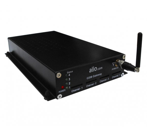 ALLO 4 Port GSM VoIP Gateway (VoIP calls to GSM, Email to SMS & SMS to Email)