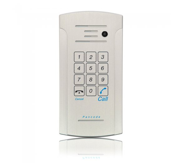 ITS Telecom Pancode IP (989) - Piezo Keypad (touch surface button) + camera, Outdoor Door IP Phone (PoE, Aluminum case, Anti-vandal, Weather resistant with Protection Class IP55)