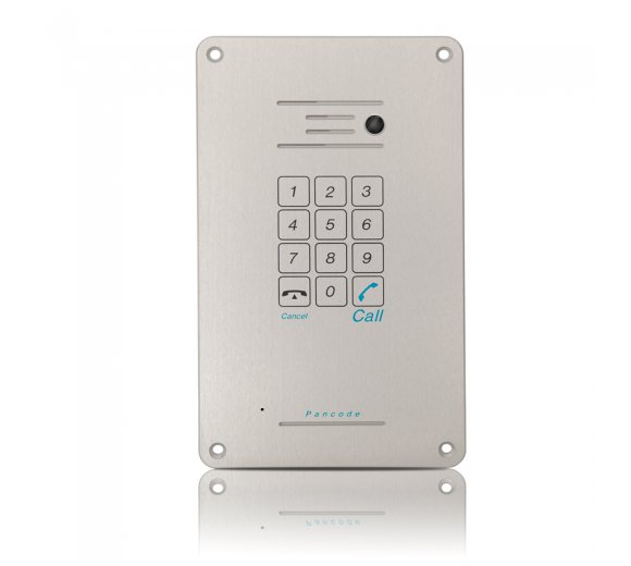 ITS Telecom Pancode IP - Piezo Keypad (touch surface button) / Flush Mount + camera, Outdoor Door IP Phone, PoE, Aluminum case, Anti-vandal, Weather resistant with Protection Class IP55 (972/1)