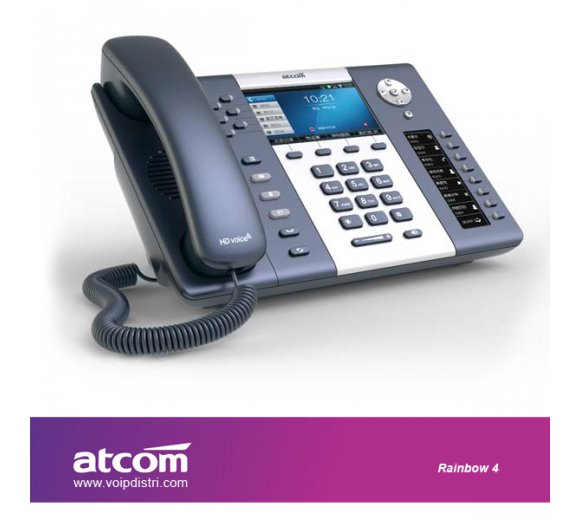 ATCOM Rainbow 4 ultimate elgant IP phone (Revolutionarily Dual-Screen Design, Full HD Audio, Gigabit Port, PoE, WiFi Connection only Optional, Support TFT LCD expansion module)