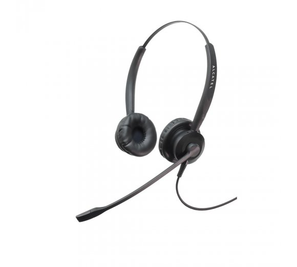 Alcatel TH125 Binaural NC Headset, Kompatibel mit Analog (Temporis 380/580/780) und VoIP (Temporis IP100/IP150)