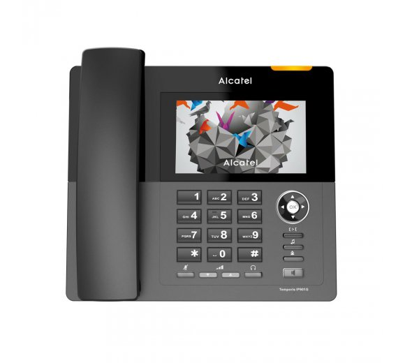 ALCATEL Temporis IP901G Gigabit IP phone with color HD touch Display with DECT Base and call recording function