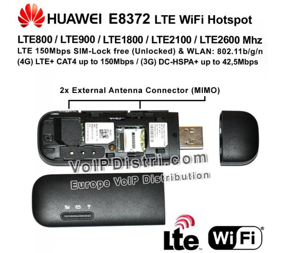 Huawei E8372 WiFi Hotspot 150Mbps, SIM-Lock free (free for all