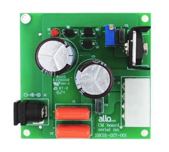 ALLO Capacitance Multiplier / Power Filter (Stand Alone), Noise Reducer for Volt or Amp, make electricity is clean for no background noise