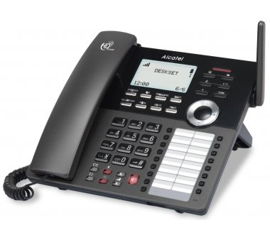ALCATEL IP30 DECT Tischtelefon kompatibel mit IP2015/2115/2215 und AVM FritzBox 7490, 6430 etc.
