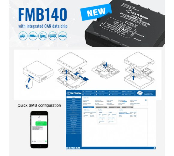 Teltonika FMB140 (2-in-1-Lösung: GPS-Tracker und CAN-Adapter)