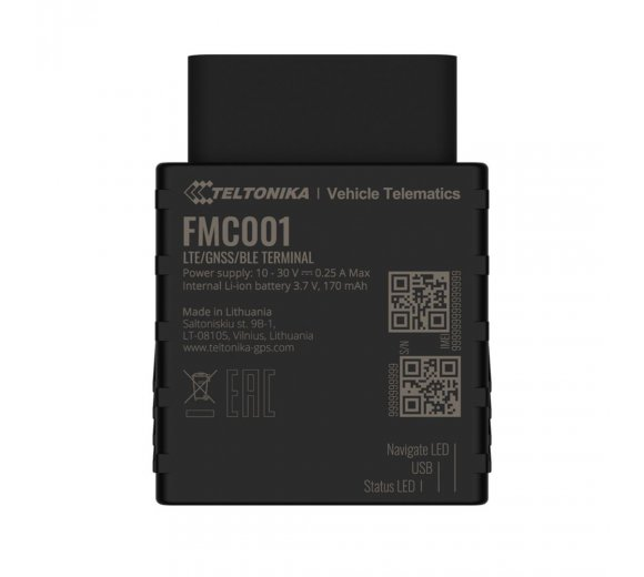 Teltonika FMC001 CAT1-LTE (4G) advanced plug and play tracker with Bluetooth