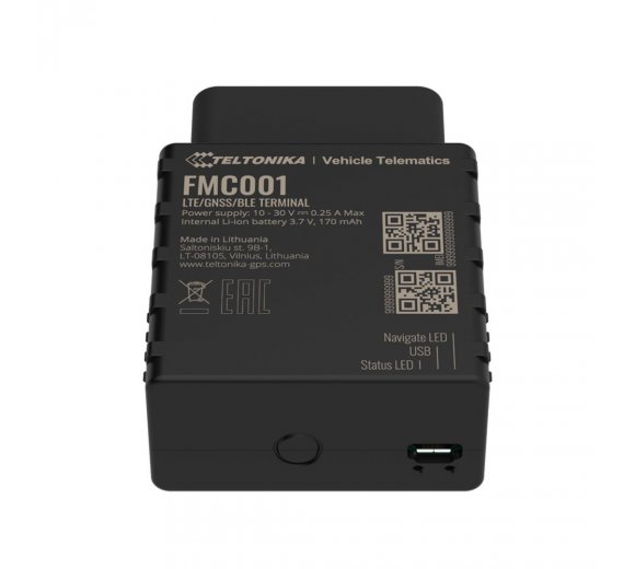 Teltonika FMC001 CAT1-LTE (4G) Erweiterter Plug-and-Play-Tracker mit Bluetooth