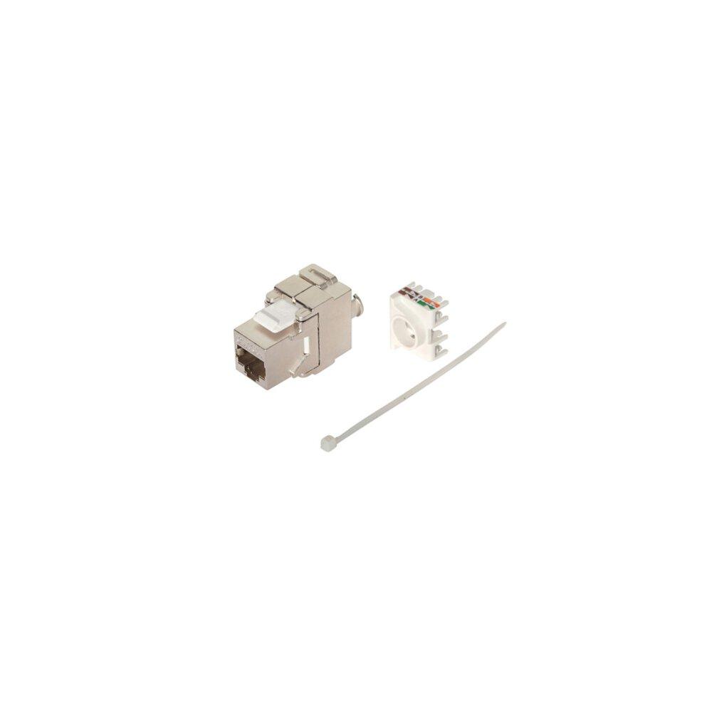 gigabit keystone werkzeuglose montage f r patchfeld dose cat 6a 10 3 49. Black Bedroom Furniture Sets. Home Design Ideas