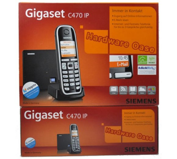 Siemens Gigaset C470 IP (SIP) - DECT/CAT-iq HDSP, Analog/IP DECT Basis / getestet **