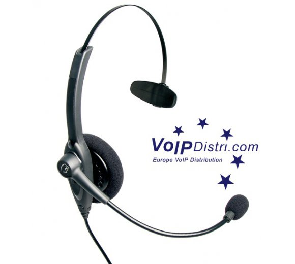 VXI Passport 10V Over-the-head monaural headset with noise canceling microphone (201559)