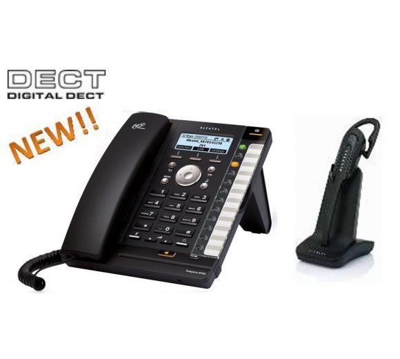 ALCATEL Temporis IP370 SIP (IP300 IP Telefon mit integrierter DECT Basis + IP70H DECT Headset, Herst.-Nr. ATL1412864)