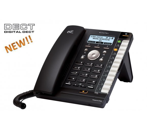 ALCATEL Temporis IP370 SIP (IP300 IP Phone with incl. DECT Base + IP70H Headset, Part-No. ATL1412864)