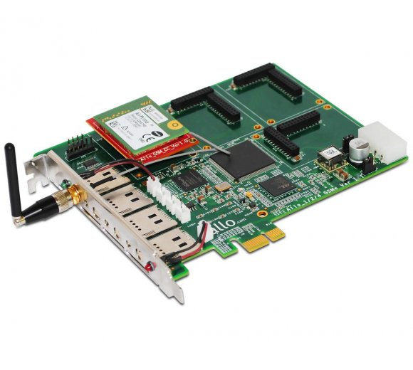 ALLO Quad-Band GSM PCIe card (PCI Express), 1 GSM channel...